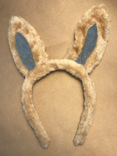 Fabric-lined bunny ears for $1
