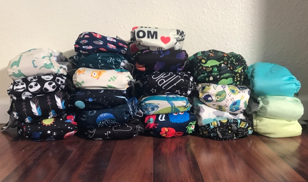 All-In-One Cloth Diaper Stash