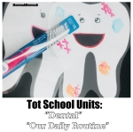 Laminated Tooth Cards with Dry Erase Marker and Toothbrush