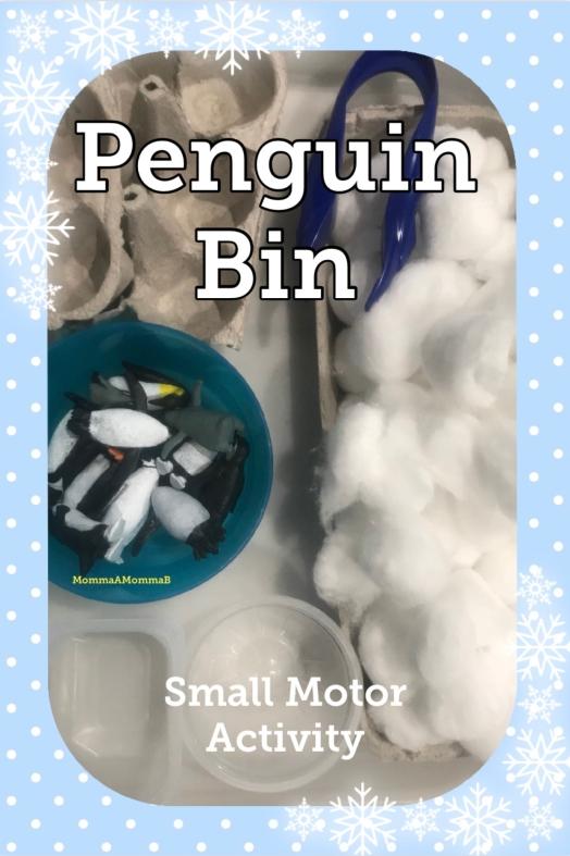Penguins & Cotton Sensory Bin