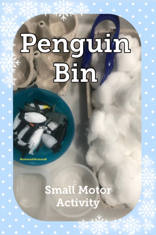 Penguins & Cotton Sensory Bin